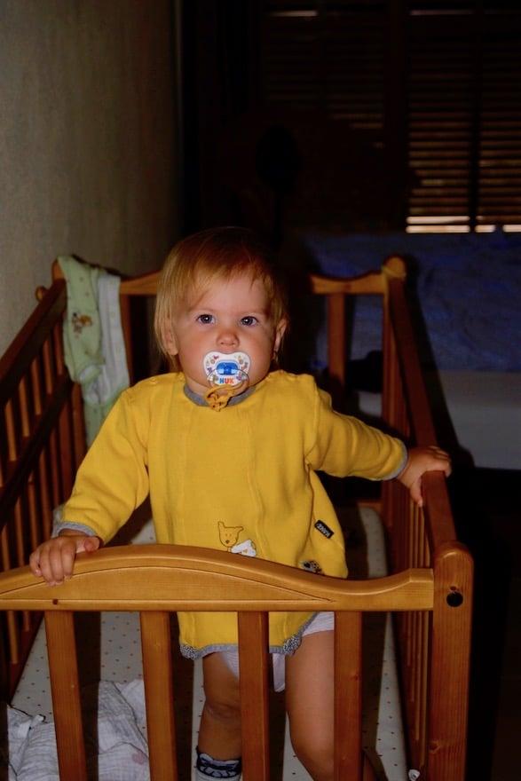 Baby im Überblick durch Video-Babyphone