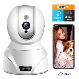 WLAN IP Kamera,KAMTRON HD WiFi Überwachungskamera,mit 350°/100°Schwenkbar,Home und Baby Monitor mit Bewegungserkennung, Zwei-Wege-Audio, Nachtsicht, unterstützt Fernalarm und Mobile App Kontrolle - 1