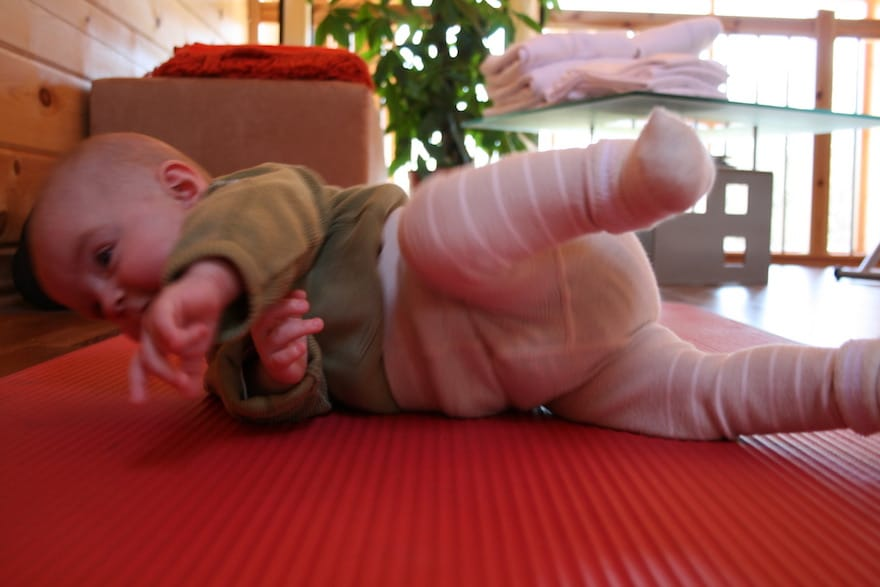 Baby Bauchlandung