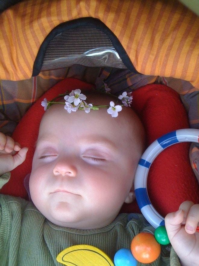 Säugling schläft